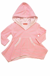 "Kate Mack ""Candy Carnival"" Sweet Pink Hoodie Coverup<Br>Sizes 4 - 10"