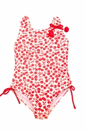 "Kate Mack ""Cha Cha Cherry"" Print Tank Swimsuit"