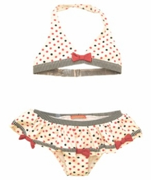 "Kate Mack ""Eau So French"" Dotted Red Skirted Bikini<Br>Sizes 4 - 10"