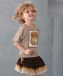 "Kate Mack ""Enchanted Owl"" Super Sassy Owl Tee & Net Skirt Two Piece Set ""PREORDER"""