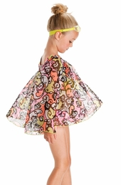 "Kate Mack ""Feelin' Groovy"" Beautiful Chiffon Coverup<Br>Sizes 7 - 16"