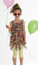 "Kate Mack ""Feelin' Groovy"" Super Sweet Tunic and Legging Two Piece Set<Br>Sizes 4 - 10"