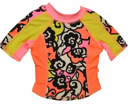 "Kate Mack ""Feelin' Groovy"" Teen Trendy Rash Guard/Surf Top<Br>Sizes 7 - 16"