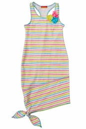 "Kate Mack ""Garden Stripe"" Precious Knit Maxi Dress<Br>Sizes 4 - 12"