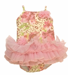 "Kate Mack Gorgeous ""On the Wild Side"" One Piece Tutu Swimsuit<Br>Sizes 3M - 5"