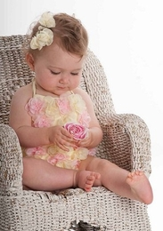 "Kate Mack ""Heavenly Roses"" Springy One Piece Flowerette Swimsuit<Br>Sizes 3M - 4T"