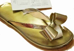 "Kate Mack ""NEW"" Classic ""Essentials"" Gold Flip Flops Sizes 4/6(little girl) - 6/8(big girl)"