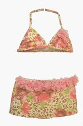 "Kate Mack ""On the Wild Side"" Teenie Skirted Two Piece Bikini<Br>Sizes 7 - 16"