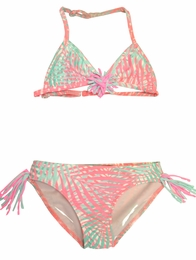 "Kate Mack ""Paradise Palms"" Fun Palm Printed Swim Bikini"