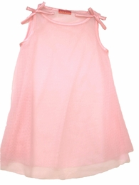 "Kate Mack Precious Pink Netted A-Line ""Secret Garden"" Coverup<Br>Sizes 3T - 12"