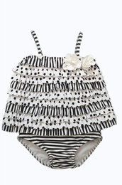 "Kate Mack Rhumba Style Navy Dotted ""Monte Carlo"" Two Piece Tankini<Br>Sizes 9M - 4T"