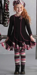 "Kate Mack ""Sassy Stripes"" Swirl Dress ""PREORDER"""