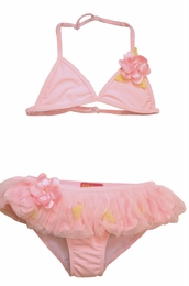 "Kate Mack Stunning Skirted ""Secret Garden"" Pink Skirted Bikini<Br>Sizes 4 - 8"