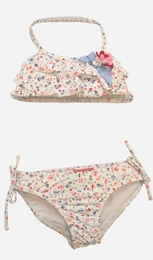 "Kate Mack ""Sunkissed Roses"" Blue Ditzy Print Bikini<Br>Sizes 4 - 12"