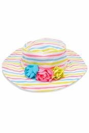 "Kate Mack Super Sweet ""Garden Stripe"" Hat<Br>Sizes 9M - 4T"