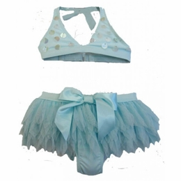 "Kate Mack ""Swan Lake Act 2"" Gorgeous Aqua Skirted Bikini"