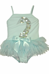 "Kate Mack ""Swan Lake Act 2"" Stunning Aqua Skirted One Piece"