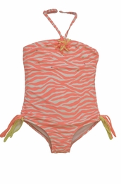"Kate Mack ""Tahitian Sunset"" Coral One Piece Swim Tank<Br>Sizes 4 -16"