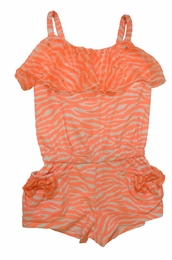 "Kate Mack ""Tahitian Sunset"" Precious Coral Romper<Br>Sizes 4 -10"