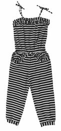 "Kate Mack Trendy ""Monte Carlo"" Navy Striped Jumpsuit<Br>Sizes 5 - 10"