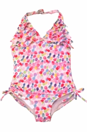 "Kate Mack ""Up Up & Away"" Pretty Pink Dotted Swim Tank   SOLD OUT"