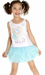 "Kate Mack ""Up Up & Away"" Sweet Two Piece Skirt and Top Set"