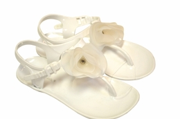 Kate Mack Versatile White Adjustable Sandals