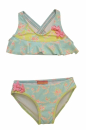 "Kate Mack ""Water Sprite"" Aqua Blue Fluttery Bikini<Br>Sizes 4 - 10"