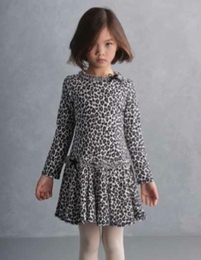 "Kate Mack ""Wild Things"" Drop Printed Navy Knit Dress"