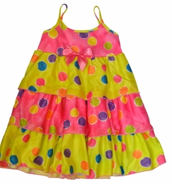 "Laura Dare ""Spring has Sprung"" Colorful Dotted Tiered Gown"