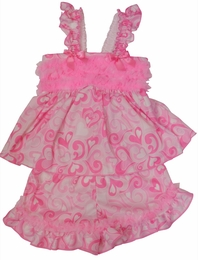 "Laura Dare ""Swirly Dreams"" Valentine Frilly Shorty Pj's"