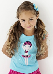 "Lemon Loves Lime Aqua Splash ""Swim Girl"" Tank Top<br>Sizes 4-10"