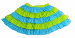 "Lemon Loves Lime Blue and Green ""Cake Cream"" Skirt<br>Sizes 5-10"
