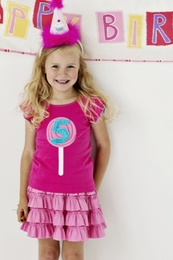 "Lemon Loves Lime Cabaret ""5th Birthday"" Tank Top<br>Sizes 5-6"