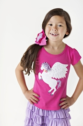 "Lemon Loves Lime Cabaret ""Princess Pegasus"" Tee<br>Sizes 3-7"