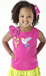 "Lemon Loves Lime Cabaret ""Songs of a Hummingbird"" Tank Top<br>Sizes 3-10"