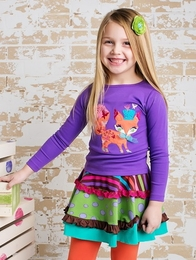 "Lemon Loves Lime Deep Lavender ""Flutter Fox"" Tee"