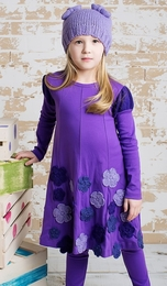 "Lemon Loves Lime Deep Lavender ""Princess Bouquet"" Dress"