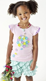 "Lemon Loves Lime Fairytale ""Hydrangea"" Tink Tank Top<br>Sizes 3-10"