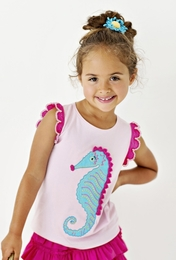 "Lemon Loves Lime Fairytale ""Seahorse Realm"" Tank Top<br>Sizes 3-7"