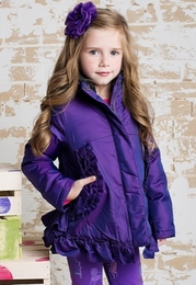 "Lemon Loves Lime Gorgeous Purple ""Pocket Full Of Ruffle"" Poly Jacket *PREORDER*"