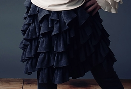 "Lemon Loves Lime Grey ""Cabbage"" Skirt"