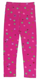 "Lemon Loves Lime Hot Pink Multi Color ""Polka Dot"" Legging"