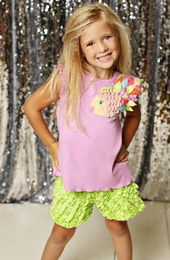 "Lemon Loves Lime Lilac Chiffon ""Rainbow Fish"" Tank Top"