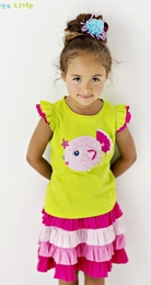 "Lemon Loves Lime Lime ""Puffer Fish"" Tank Top<br>Sizes 3-10"