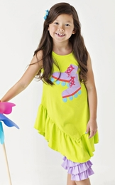 "Lemon Loves Lime Lime Punch ""Roller Skates"" Dress<br>Sizes 4-10"