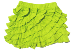 "Lemon Loves Lime Lime Punch ""Ruffle"" Skort<br>Sizes 3-10"