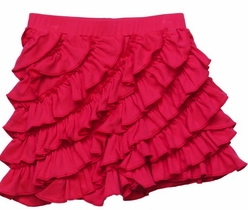Lemon Loves Lime Raspberry Ruffle Skort