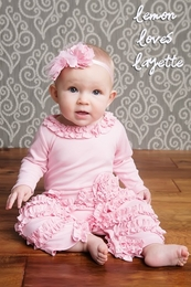 "Lemon Loves Lime Rose Shadow ""Peony"" Romper"