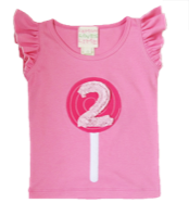 "Lemon Loves Lime Sachet Pink ""2nd Birthday"" Tank Top<br>Sizes 2-3"
